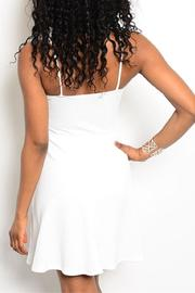 Adore Clothes & More White Fringe Dress - Front full body
