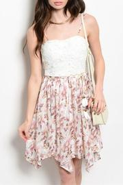 Adore Clothes & More White Flower Dress - Product Mini Image