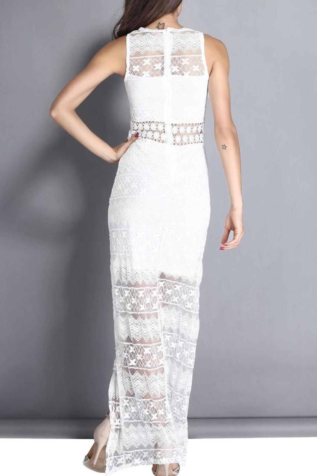 Adore Clothes & More White Lace Dress - Side Cropped Image