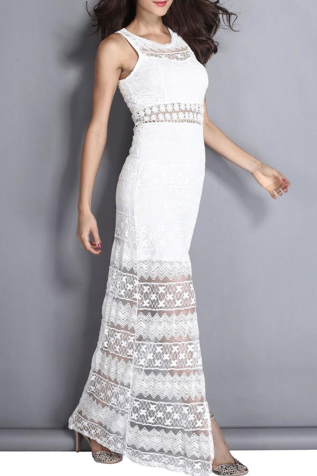 Adore Clothes & More White Lace Dress - Front Full Image