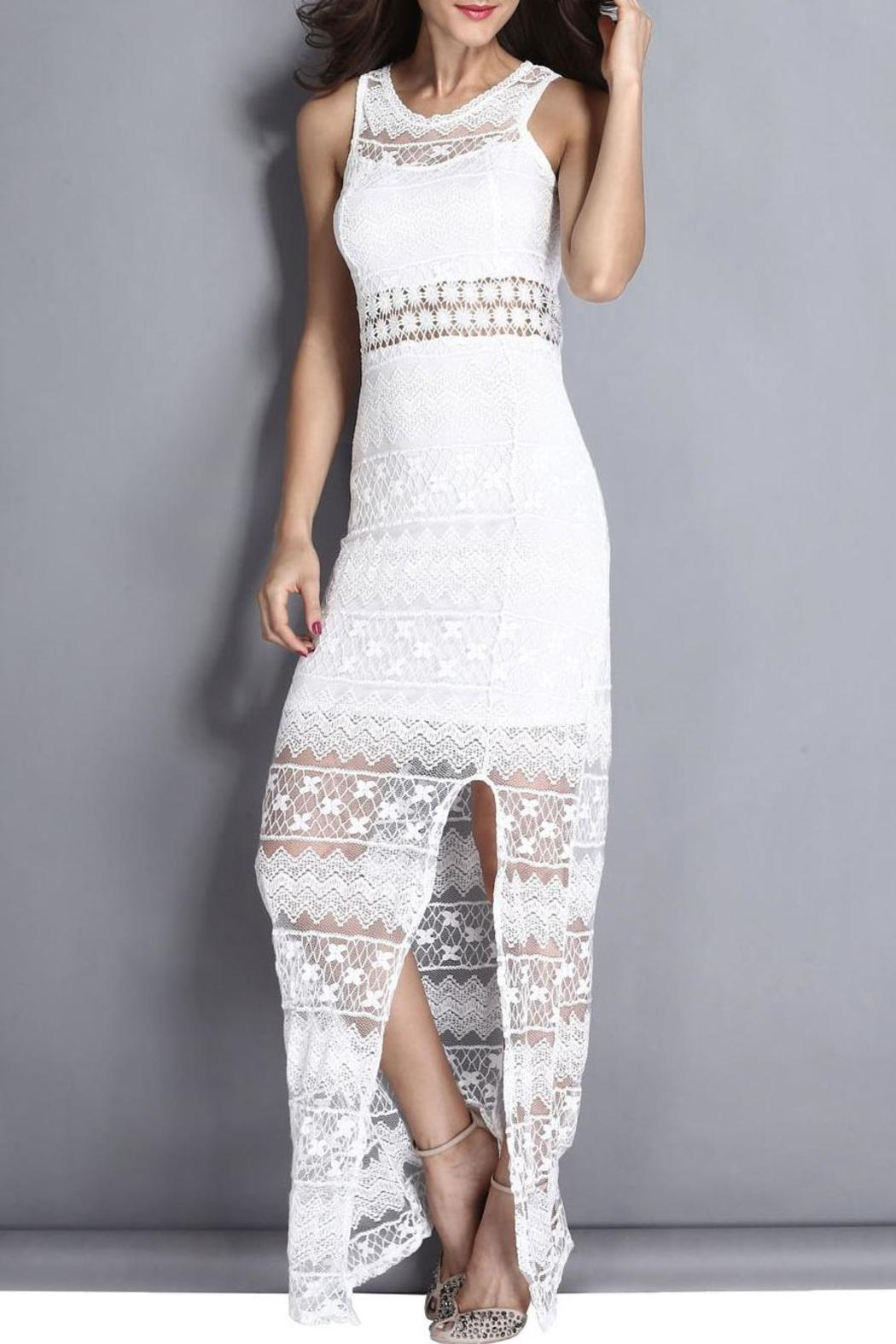 Adore Clothes & More White Lace Dress - Main Image
