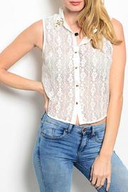 Adore Clothes & More White Lace Top - Product Mini Image