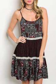 Adore Clothes & More Wine Black Summer Dress - Product Mini Image