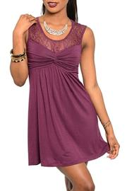 Adore Clothes & More Wine Dress - Product Mini Image