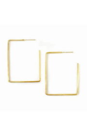 Adorn512 Rectangle Earring Large - Front cropped