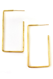 Adorn512 Rectangle Earring Medium - Front cropped