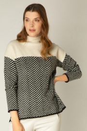 yest  Adriënne High Neck Sweater - Product Mini Image