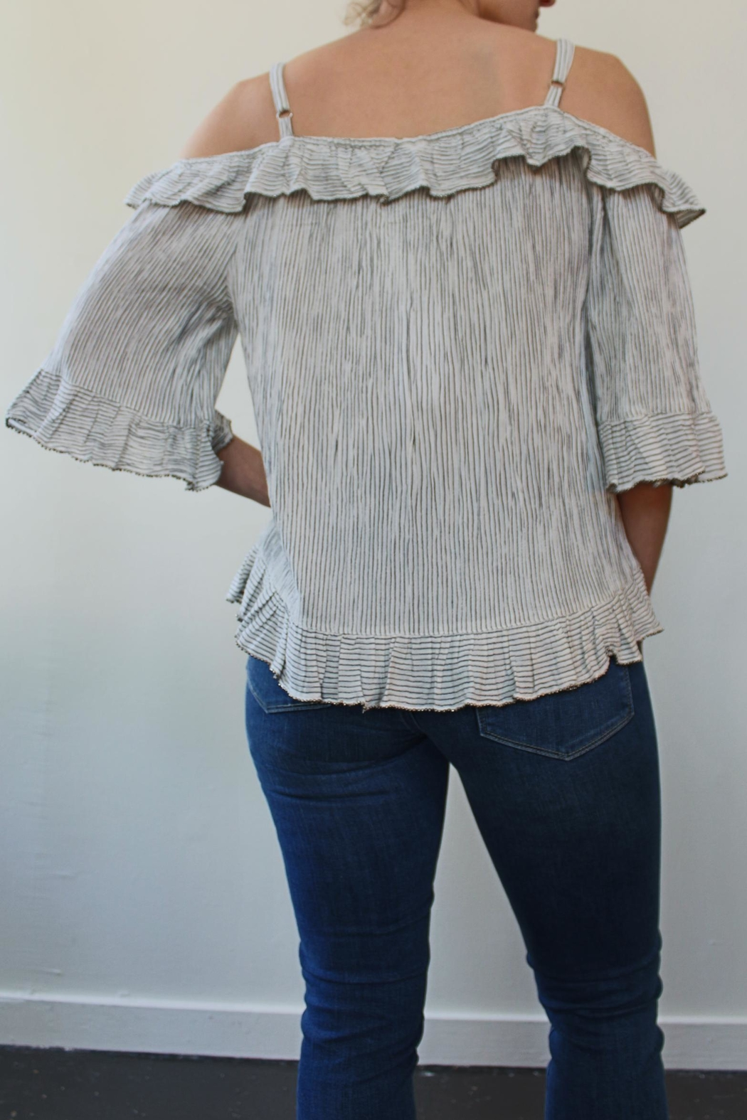 Bobeau Adrian Beaded Top - Front Full Image