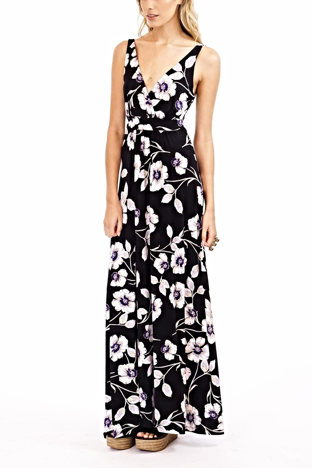 Veronica M Adrian Maxi Dress - Side Cropped Image