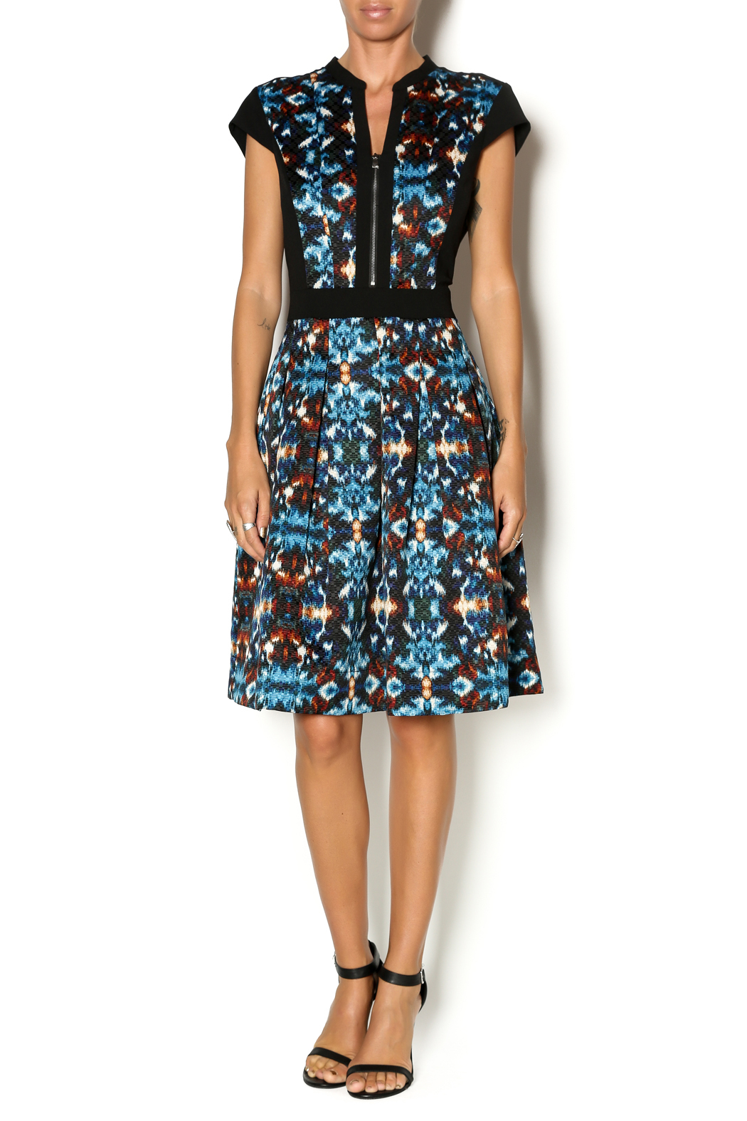 Adrianna papell ikat printed dress from lancaster by jan for Ikat fabric dress