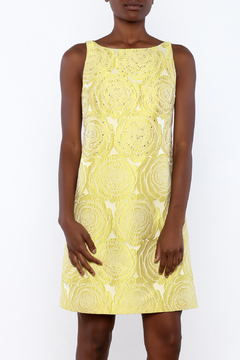 Adrianna Papell Yellow Beaded Dress - Product List Image