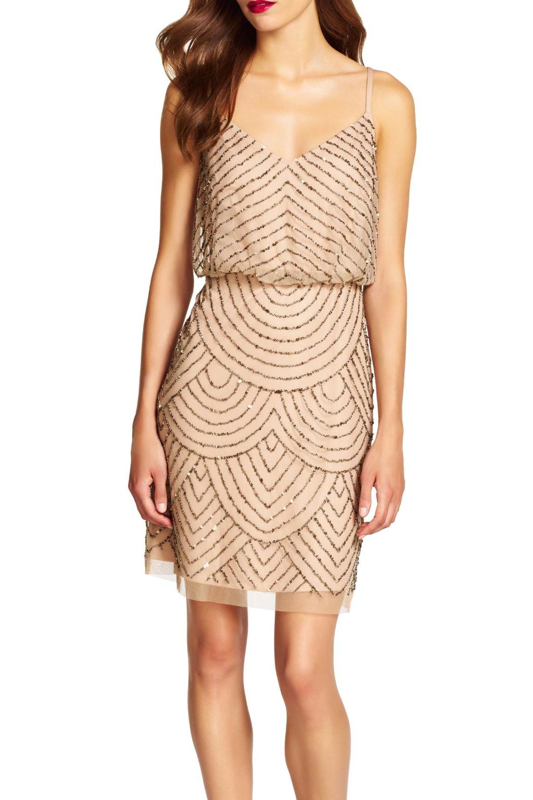Adrianna papell beaded blouson dress from georgia by high for Adrianna papell wedding guest dresses