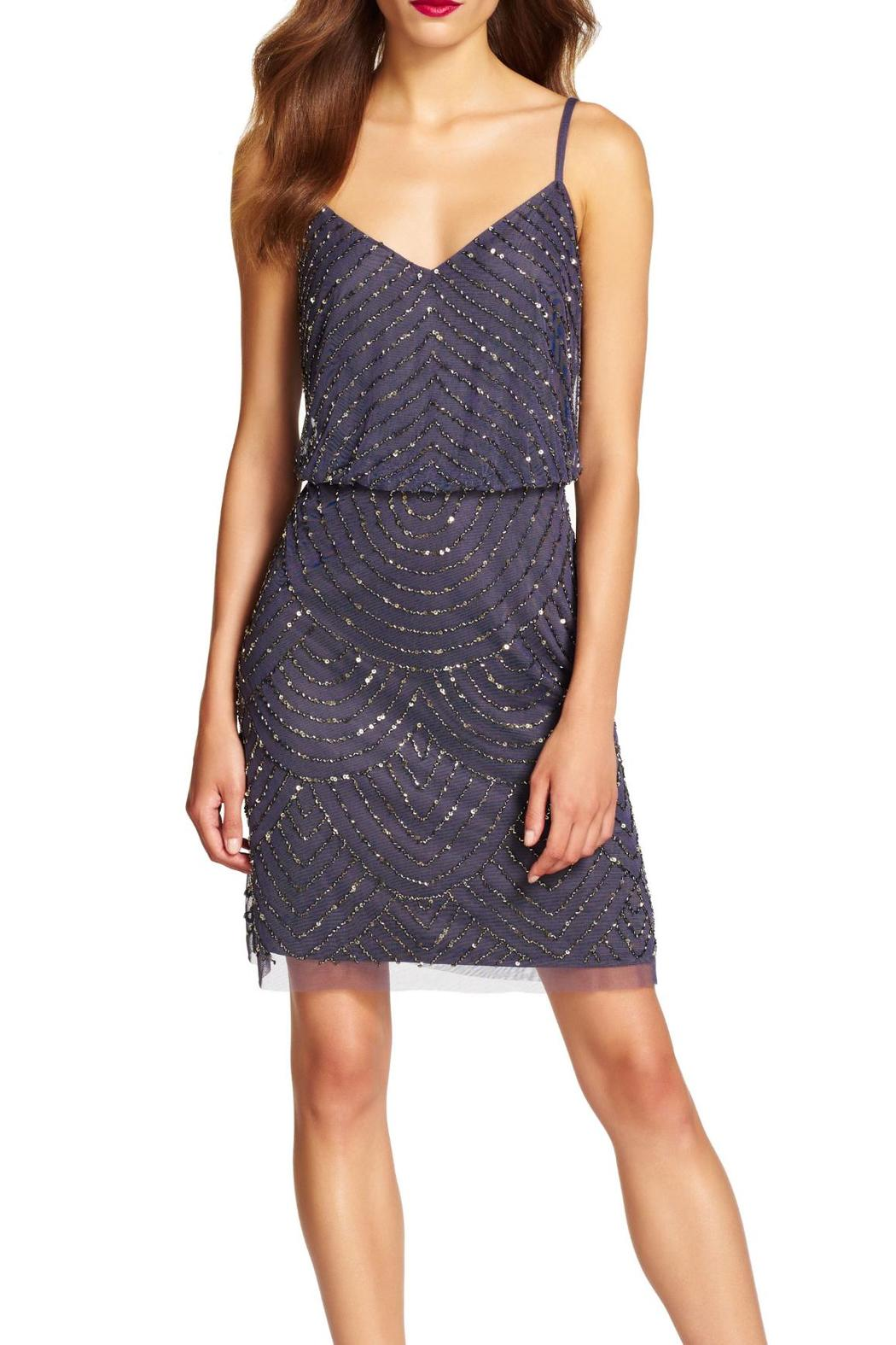 Adrianna Papell Beaded Blouson Dress from Georgia by High ...