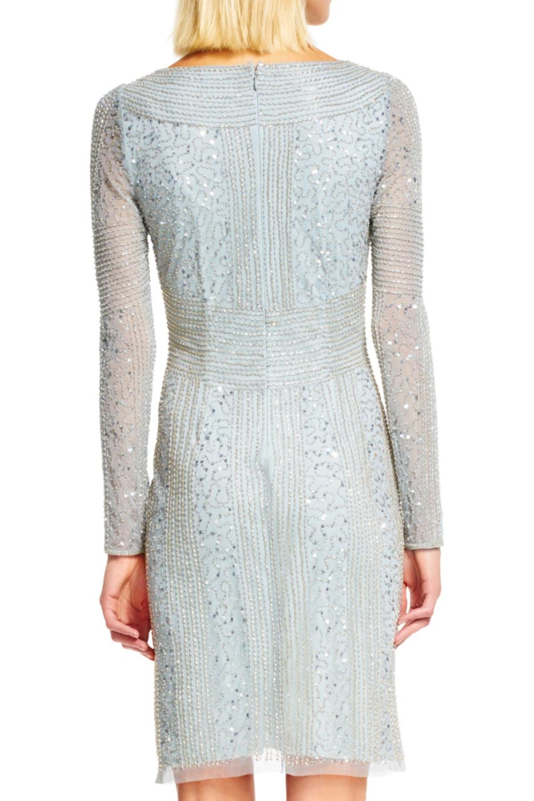 Adrianna Papell Beaded Sheath Dress - Front Full Image