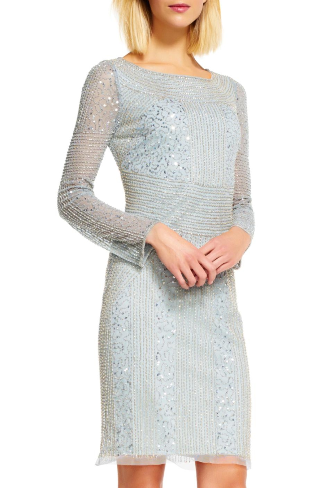 Adrianna Papell Beaded Sheath Dress - Main Image