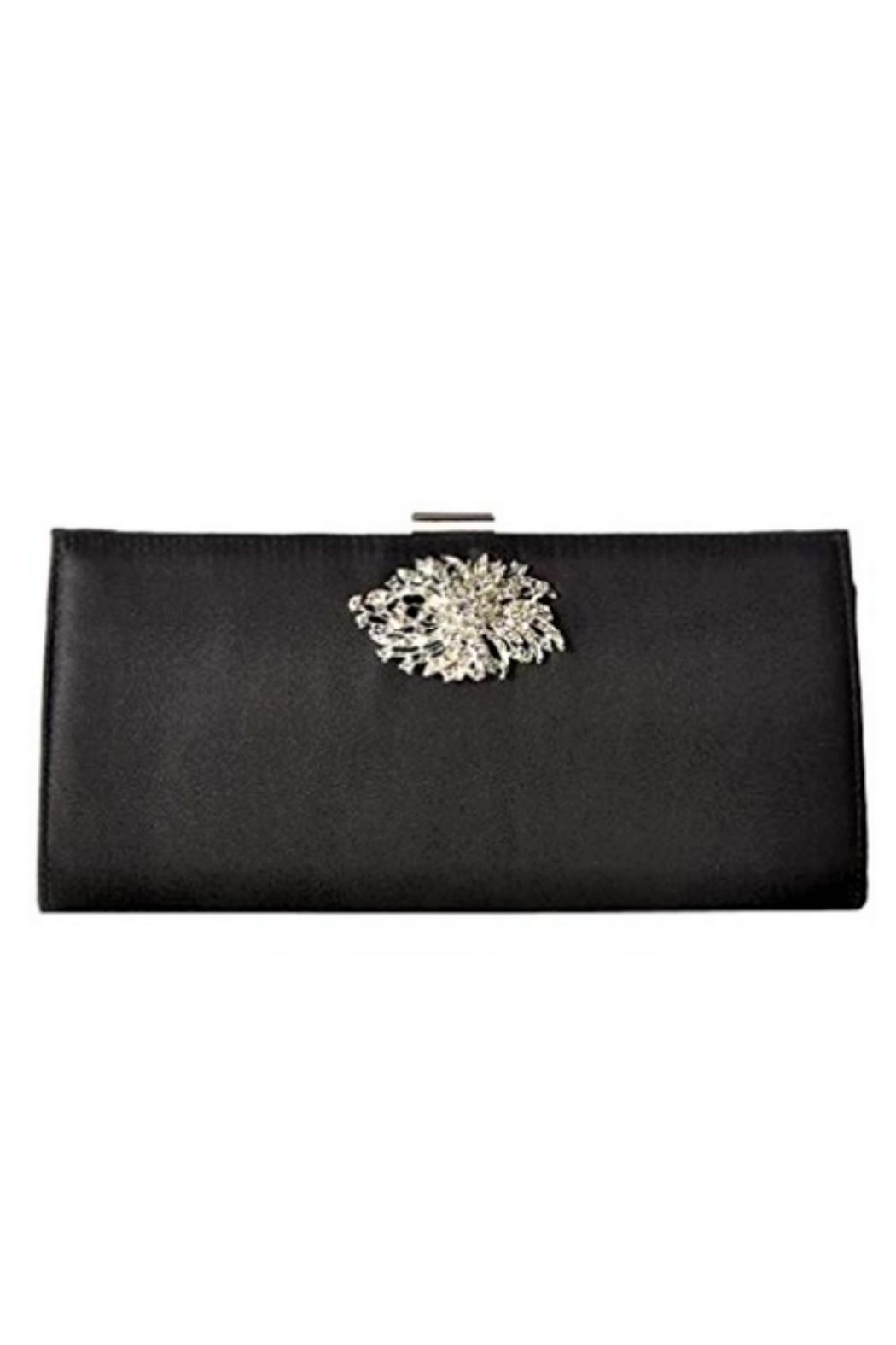 Adrianna Papell Black Stacee Clutch - Main Image