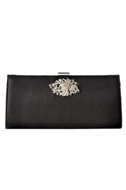 Adrianna Papell Black Stacee Clutch - Front cropped