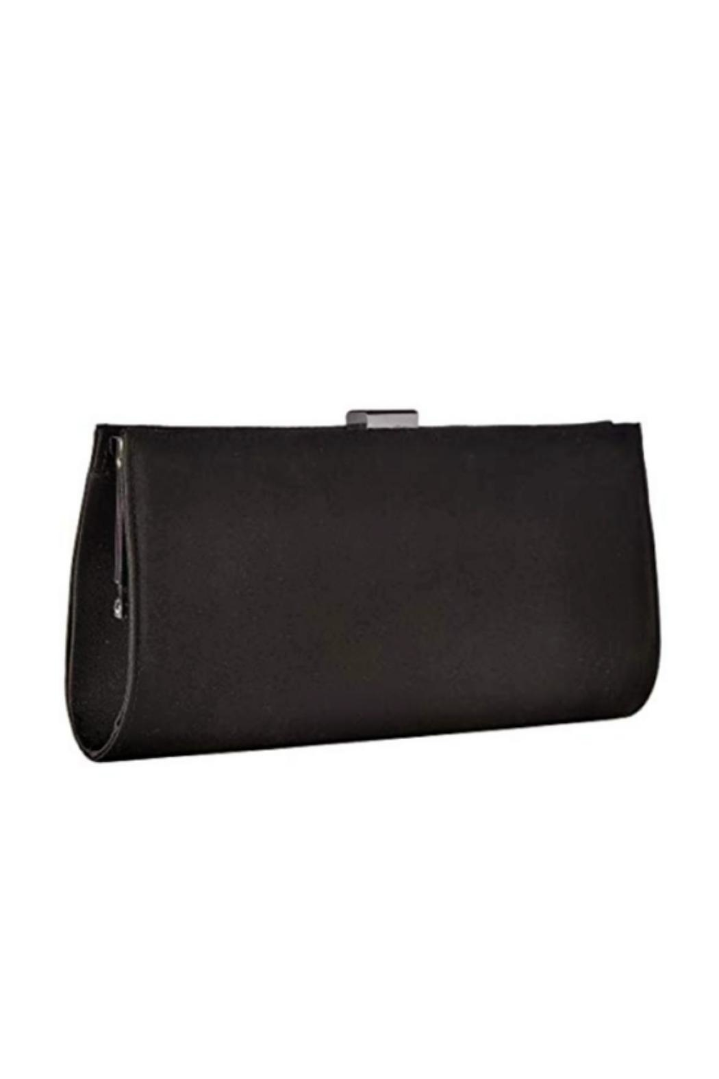 Adrianna Papell Black Stacee Clutch - Side Cropped Image