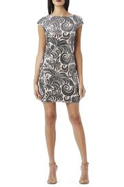 Adrianna Papell Blush Gunmetal Dress - Front cropped