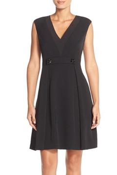 Adrianna Papell Embellished Crepe Dress - Product List Image