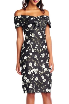Shoptiques Product: Floral Printed Metallic Dress