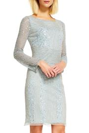Adrianna Papell Long Sleeves Beaded Dress - Front cropped