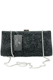 Adrianna Papell Norah Black-Beaded Clutch - Side cropped