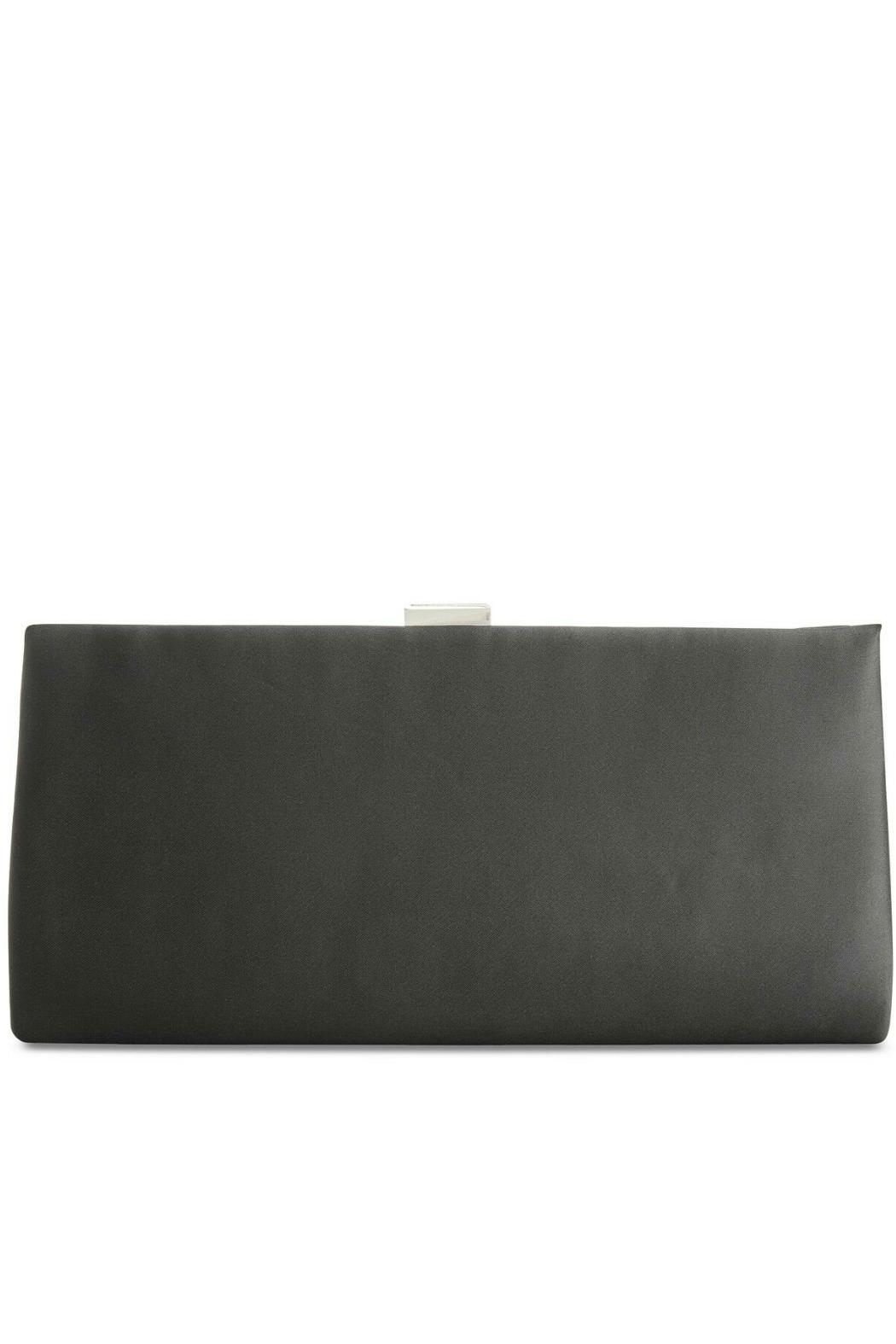 Adrianna Papell Norah Black-Beaded Clutch - Front Full Image