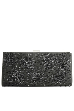 Adrianna Papell Norah Black-Beaded Clutch - Product List Image