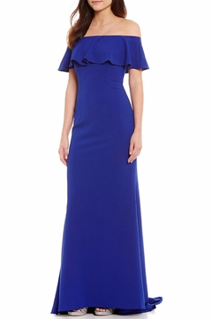 Shoptiques Product: Off-The-Shoulder Ruffled Gown
