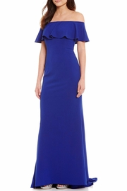 Adrianna Papell Off-The-Shoulder Ruffled Gown - Product Mini Image