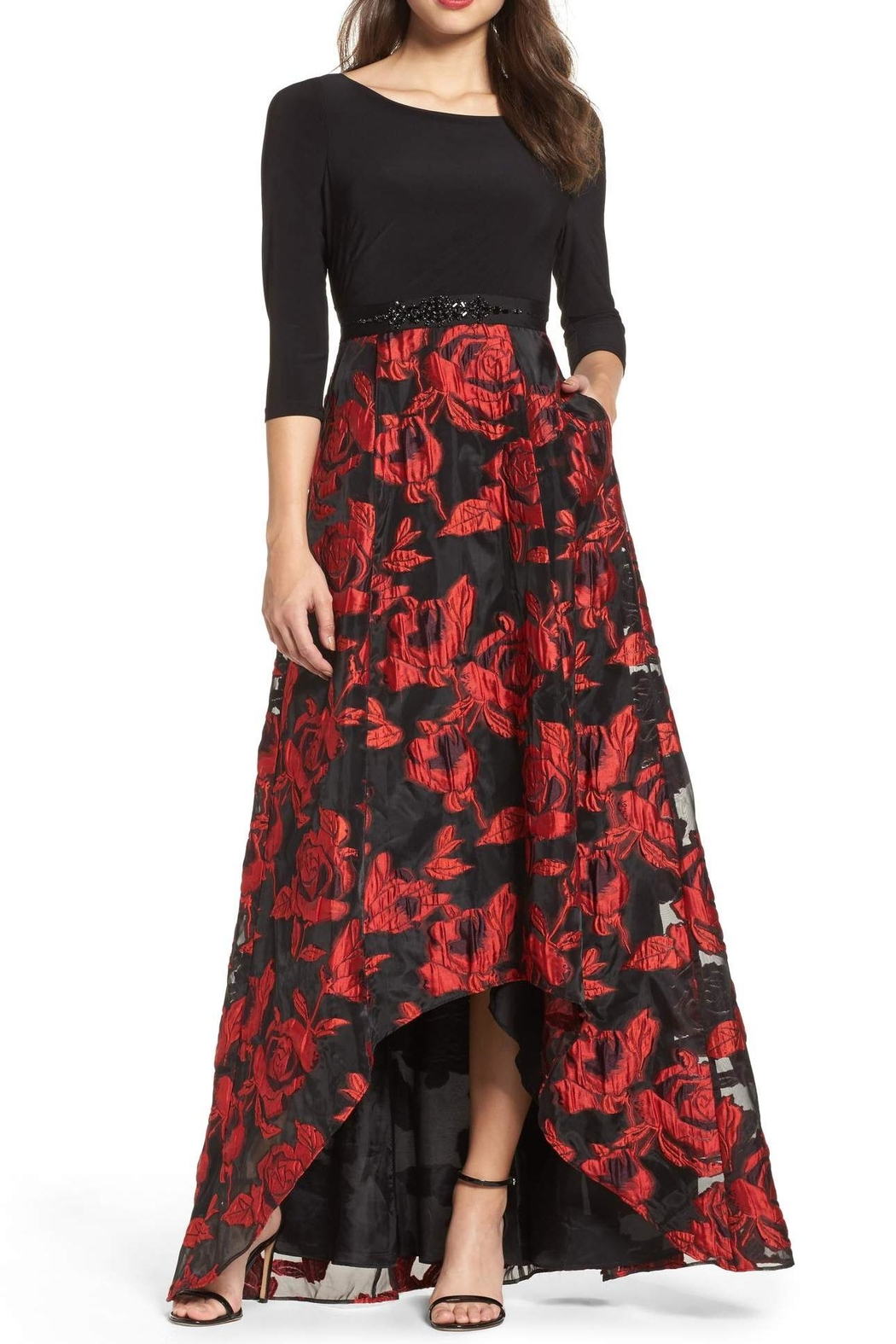 Adrianna Papell Rose Maxi Gown - Main Image