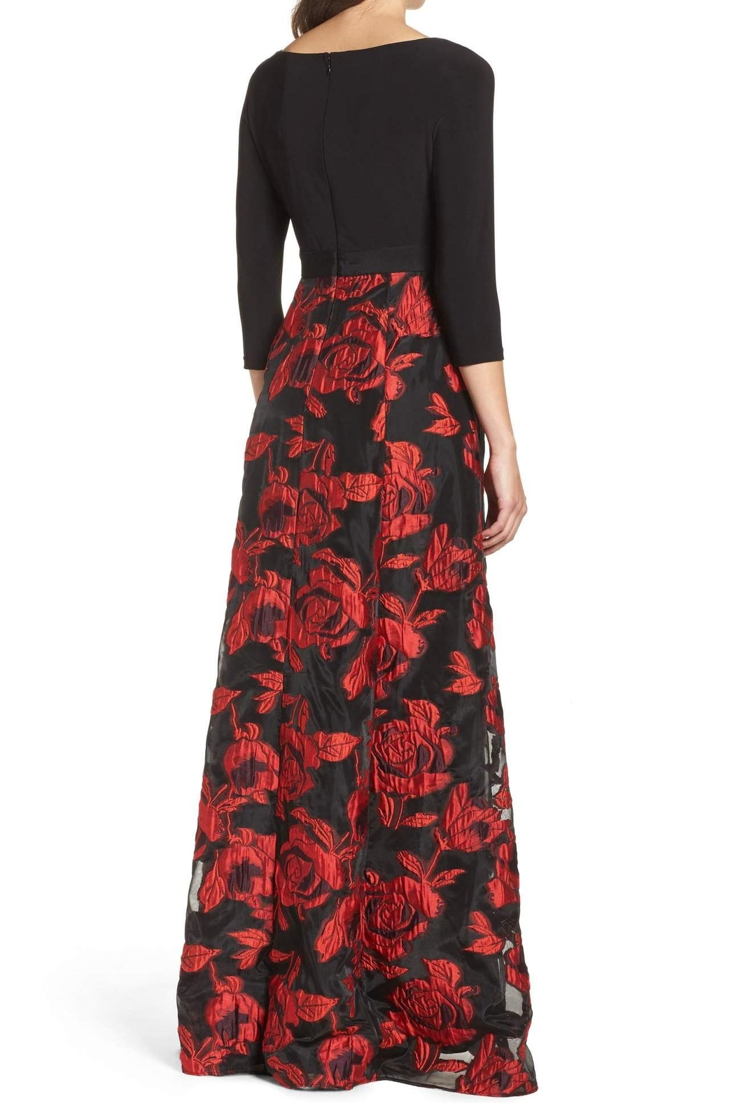 Adrianna Papell Rose Maxi Gown - Front Full Image