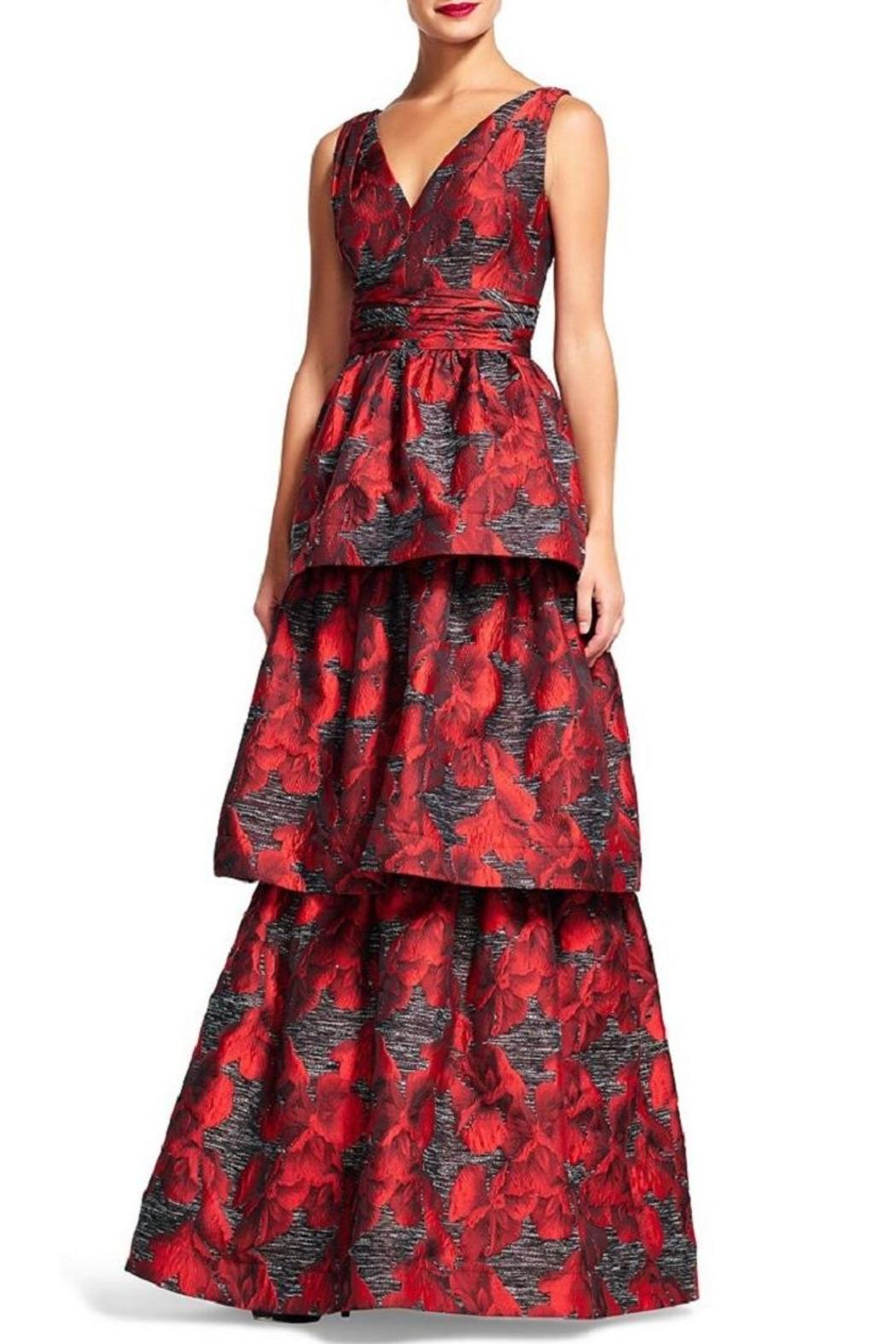 Adrianna Papell Tiered Jacquard Gown from New Jersey by District 5 ...
