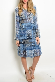 Adrienne Lace Sleeved Midi Dress - Product Mini Image