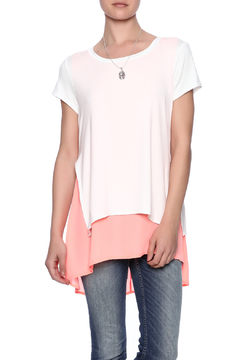 Adrienne Layered Boat Neck Tee - Product List Image