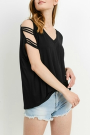 Cherish Adrina Cold-Shoulder Top - Front cropped
