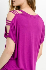 Cherish Adrina Cold-Shoulder Top - Front full body