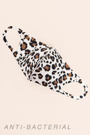Gilli  Adult Antibacterial Brown Leopard Face Mask - Product Mini Image