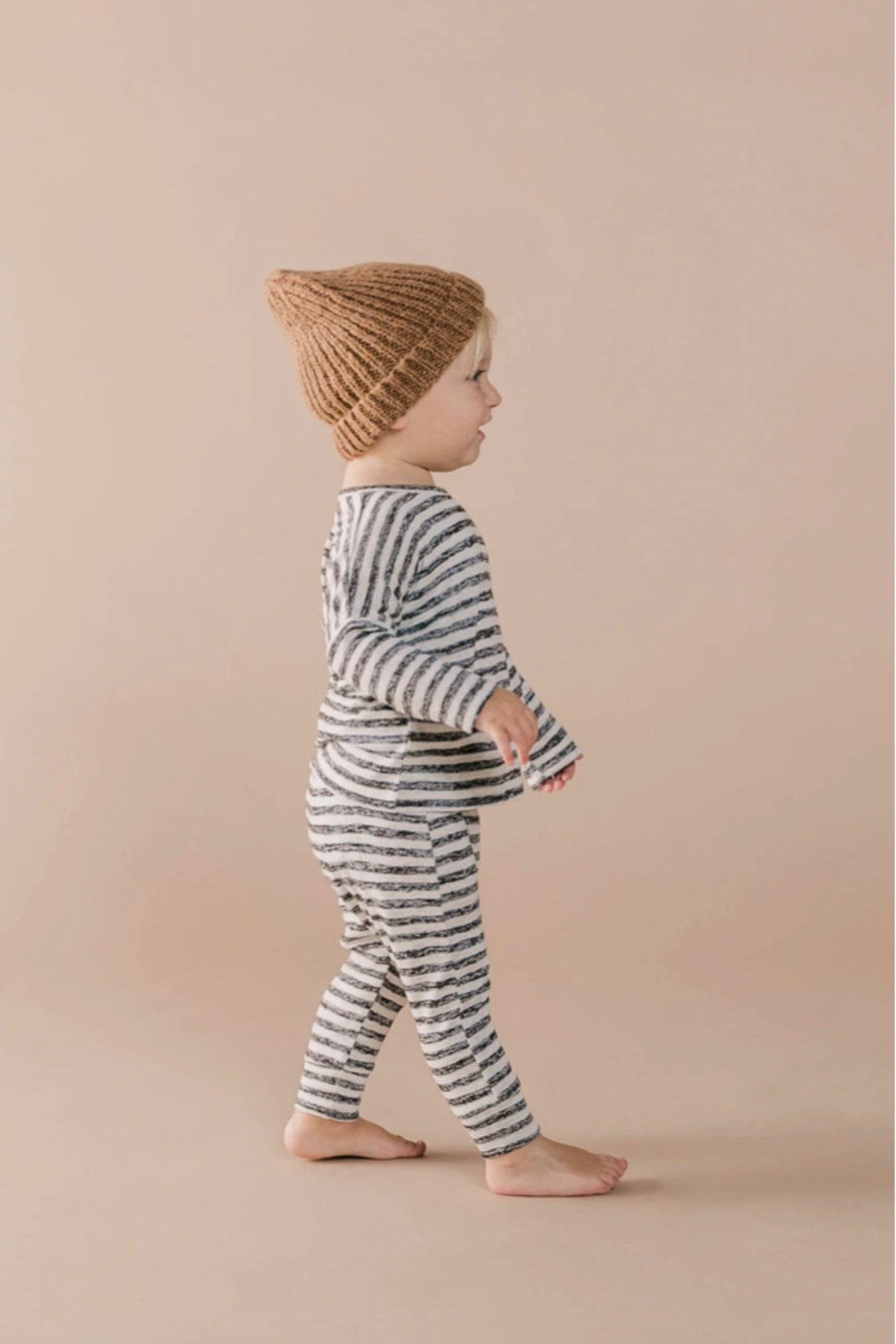 Rylee & Cru Adult Beanie In Caramel - Front Full Image