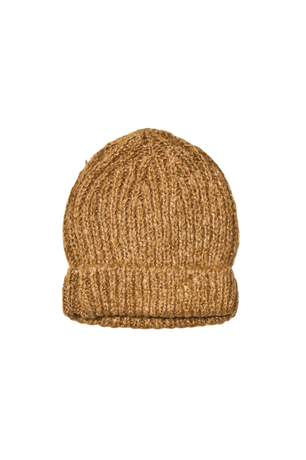 Rylee & Cru Adult Beanie In Caramel - Front Cropped Image