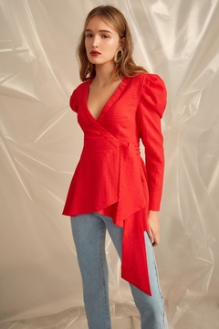 C/MEO COLLECTIVE Advance Wrap Top - Product List Image