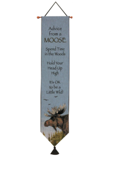 Manual Woodworkers and Weavers Advice from a Moose Tapestry - Alternate List Image