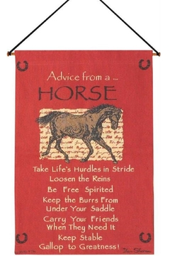 MWW Advice from a Horse Tapestry - Product List Image