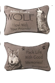 RA# 66049 Advice Wolf Pillow - Product Mini Image