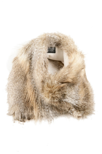 Shoptiques Product: Asymetrical Fur Scarf - main