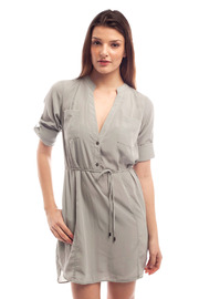 Shoptiques Product: Cuffed Sleeve Shirt Dress