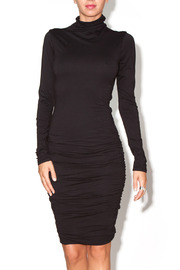 Velvet Ruched Sweater Dress - Product Mini Image
