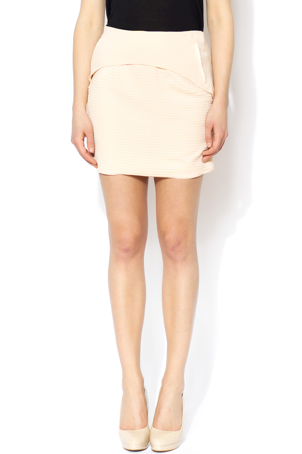 Line & Dot Blush Pleated Mini Skirt from Wisconsin by Skirt the ...