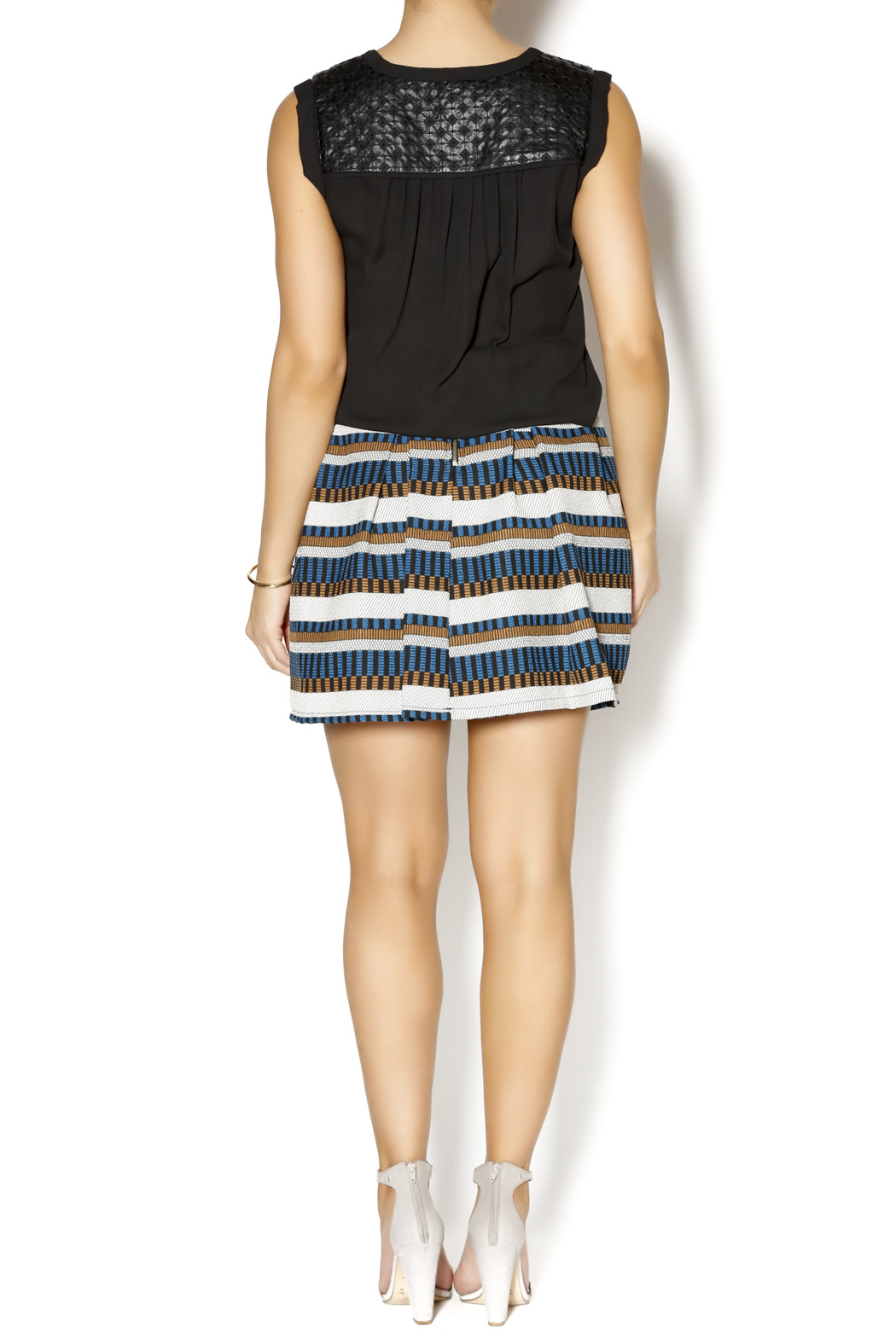 freeway high waisted striped skirt from utah by q clothing